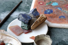 Intarsio di marmo a Agra Fotografia Stock