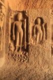 Intarsj rzeźby w Buddyjskiej jamie zdjęcie royalty free