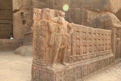 Intarsj rzeźby w Buddyjskiej jamie obraz royalty free