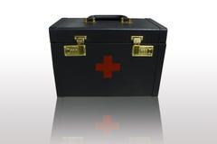 Intaschi la cassetta di pronto soccorso. Fotografia Stock