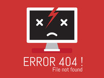 Inte-funnen mapp för fel 404 royaltyfri bild