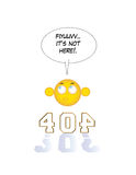 inte-funnen sida 404 Royaltyfri Bild