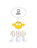 inte-funnen sida 404 Royaltyfri Fotografi