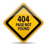 inte-funnen sida 404 Arkivbild