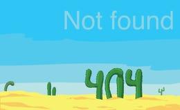 Inte-funnen sida för fel 404 Royaltyfria Bilder