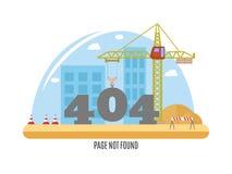 inte-funnen sida för 404 fel också vektor för coreldrawillustration Arkivfoto