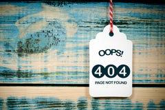 Inte-funnen sida, fel 404 Royaltyfria Bilder