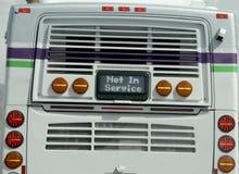 Inte i tjänste- buss Royaltyfri Fotografi