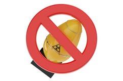 Inte kärn- bombardera förbudtecknet Arkivbilder