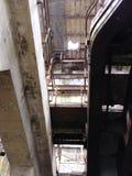 Inte längre undervattens- efter 40 år Den Market Street kraftverket övergav New Orleans Louisiana royaltyfri foto