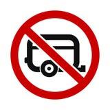 Inte tillåten husvagn Royaltyfri Foto