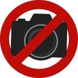 Inte tillåtet kamerafototecken Royaltyfri Fotografi