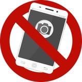 Inte tillåtet mobilt fototecken Arkivbild