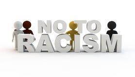 Inte till rasism Royaltyfri Bild