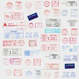 Inte4rnational postage stamps. Americans and Europeans Postage stamps Royalty Free Stock Images
