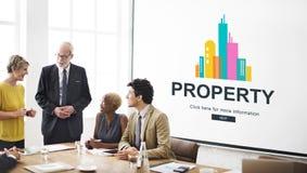 Inteckna begreppet för bostads- byggnad för egenskapsinvesteringen arkivbild