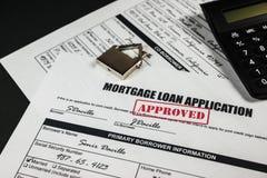 Inteckna lånapplikation godkända 014 Arkivfoton