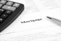 Inteckna lånförpliktelseförlagan. arkivbild