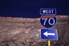 Inteerrstate 70 ocidental - Colorado Imagem de Stock Royalty Free