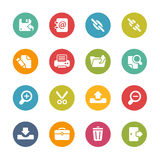Inteface Icons -- Fresh Colors Series Stock Image