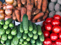 Integers different fresh vegetables on the counter close-up Stock Image