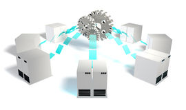 Integração de sistemas ilustração stock