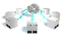Integración de sistemas stock de ilustración