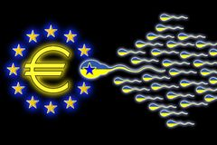 Integración de Ucrania a Europa Imagen de archivo