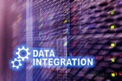 Integraci danych technologie informacyjne pojęcie na serweru pokoju tle Obrazy Royalty Free