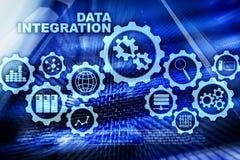 Integracja danych technologie informacyjne Biznesowy poj?cie na serweru pokoju tle ilustracji