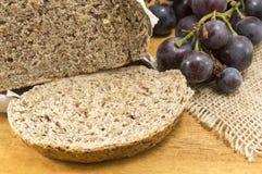 Integral bread and grape Stock Photo