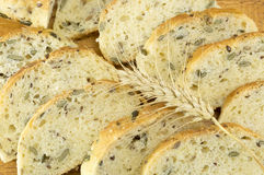 Integral bread with seeds sliced Stock Image
