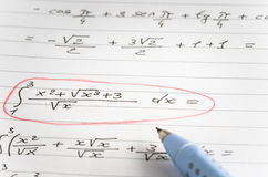 Free Integral Calculus Stock Photography - 75803852