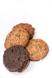Integral chocolate cookies Stock Photo