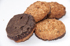 Integral chocolate cookies Royalty Free Stock Image