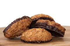 Integral chocolate cookies Royalty Free Stock Photos