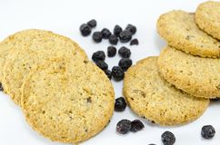 Integral cookies with aronia Royalty Free Stock Image