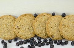 Integral cookies with aronia Stock Images