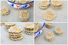 Integral cookies with seeds Stock Photos