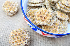 Integral cookies with seeds Stock Photography