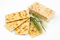 Integral crackers on white background Royalty Free Stock Photography