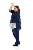 Estudiante gordo adiós fotografía de archivo