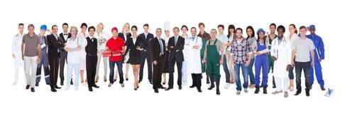 Integral de gente con diversos empleos