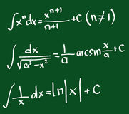 Integral formulas Stock Image