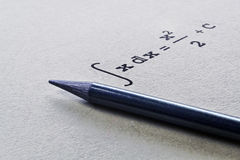 Integral of a function Stock Images