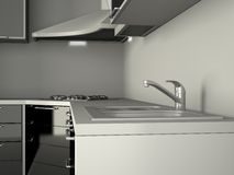 Integral kitchen furniture Royalty Free Stock Photography