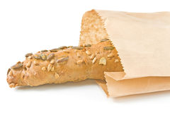 Integral roll in paper bag Stock Photos