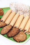 Integral serving cookies on a plate Stock Images