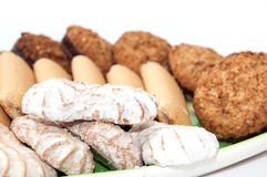 Integral serving cookies on a plate Royalty Free Stock Image