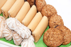 Integral serving cookies on a plate Stock Image